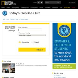 GeoBee Challenge Game, Geographic Bee Practice, Geography Trivia -