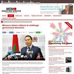 Morocco allows citizens to challenge government decisions