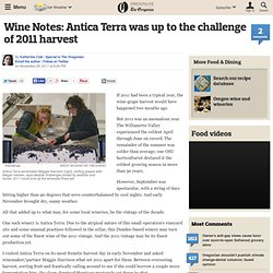 Wine Notes: Antica Terra was up to the challenge of 2011 harvest