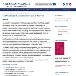 The Challenge of Mass Incarceration in America - American Academy of Arts & Sciences