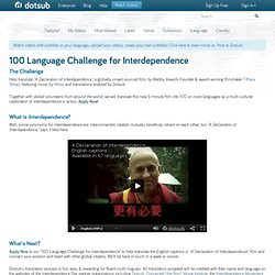 Welcome to 100 Language Challenge for Interdependence