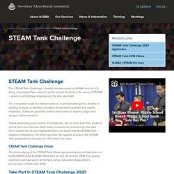 STEAM Tank Challenge - New Jersey School Boards Association