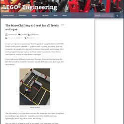 The Maze Challenge: Great for all levels and ages – LEGO Engineering