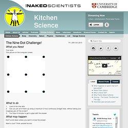 The Nine Dot Challenge!
