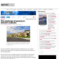 The challenge of poverty in Detroit's suburbs