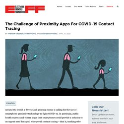 The Challenge of Proximity Apps For COVID-19 Contact Tracing