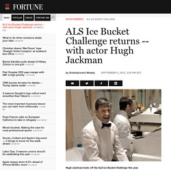 ALS Ice Bucket Challenge returns