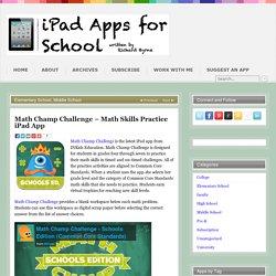 Math Champ Challenge – Math Skills Practice iPad App