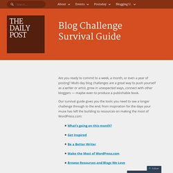 Blog Challenge Survival Guide