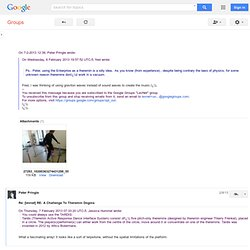 Re: [levnet] RE: A Challenge To Theremin Dogma - Google Groupes