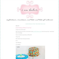 Cake Challenge {Wiltons Grass Tip}