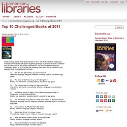 Top 10 Challenged Books of 2011