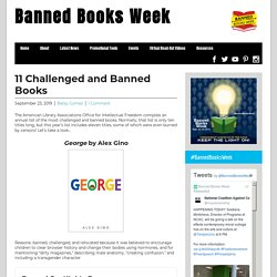 11 Challenged and Banned Books