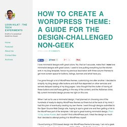 How to create a WordPress theme: A guide for the design-challeng