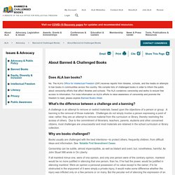 About Banned & Challenged Books - ALA
