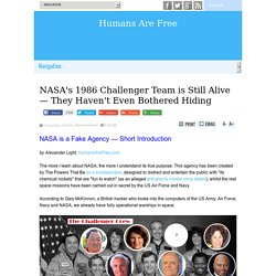 NASA's 1986 Challenger Team is Still Alive — They Haven't Even Bothered Hiding