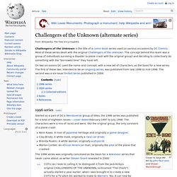Challengers of the Unknown (alternate series)