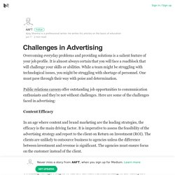 Challenges in Advertising – AAFT – Medium