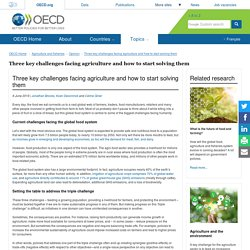 Three key challenges facing agriculture and how to start solving them