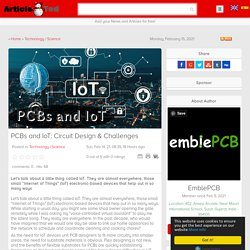PCBs and IoT: Circuit Design & Challenges