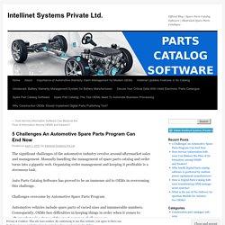 5 Challenges An Automotive Spare Parts Program Can End Now