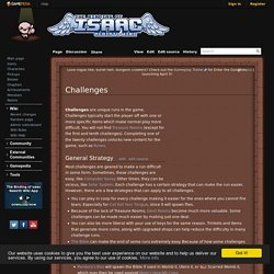 Challenges - Binding of Isaac: Rebirth Wiki