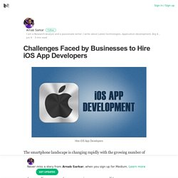 Challenges Faced by Businesses to Hire iOS App Developers