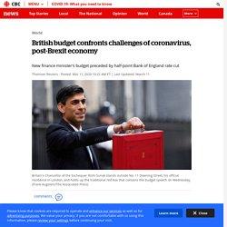 British budget confronts challenges of coronavirus, post-Brexit economy