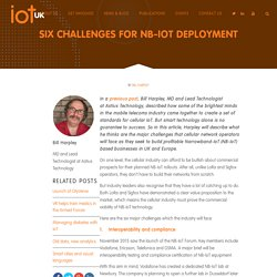 Six challenges for NB-IoT deployment - IoTUK