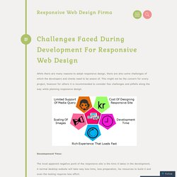 Challenges Faced During Development For Responsive Web Design