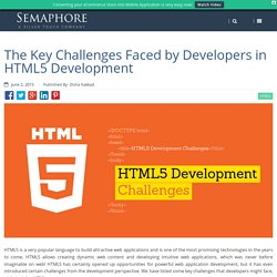The Key Challenges Faced by Developers in HTML5 Development