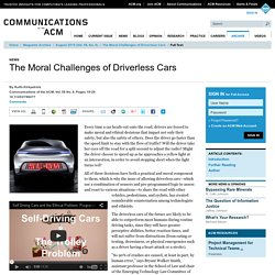The Moral Challenges of Driverless Cars