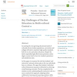Key Challenges of On-line Education in Multi-cultural Context