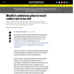Mozilla challenges educators to integrate ethics into STEM