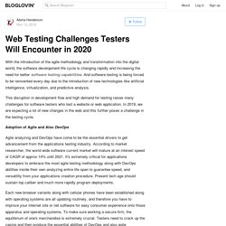 Web application Testing Challenges Testers Will Encounter in 2020