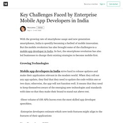 Key Challenges Faced by Enterprise Mobile App Developers in India