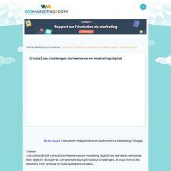 ▷ [Etude] Les challenges du freelance en marketing digital
