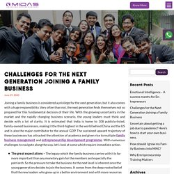 Challenges for the Next Generation Joining a Family Business