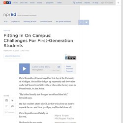 Fitting In On Campus: Challenges For First-Generation Students : NPR Ed