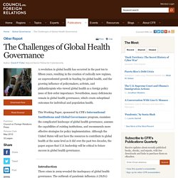 Article: The Challenges of Global Health Governance