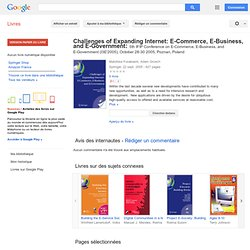 Challenges of expanding Internet: e ... - Google Livres