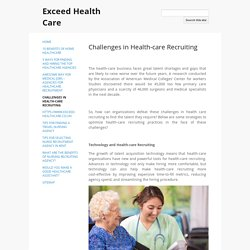 Challenges in Health-care Recruiting
