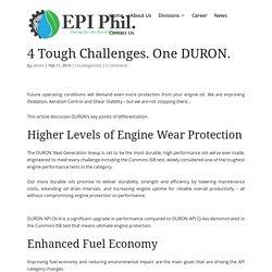 4 Tough Challenges. One DURON. - Envireau Pacific Incorporated (EPI)