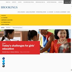 Today's challenges for girls' education