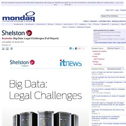 Big Data: Legal Challenges (Full Report)
