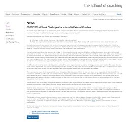 Ethical Challenges for Internal & External Coaches