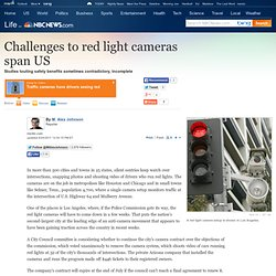 Challenges to red light cameras span US - US news - Life