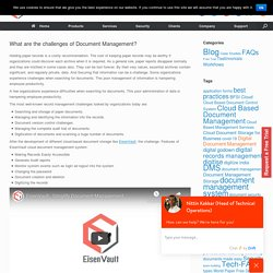 What are the challenges of Document Management?