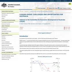 Looking ahead: challenges and opportunities for Australia