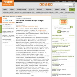 Essay on challenges for future presidents of community colleges